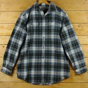 Carhartt Blue & Gray Hubbard Plaid Flannel Shirt